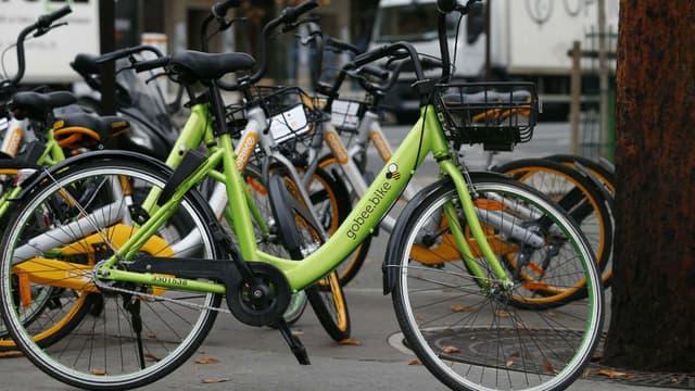 Vélo en libre-service de la société Gobee.bike