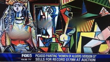 "La version ""censurée"" des ""Femmes d'Alger (version O)"" sur FOX5NY."
