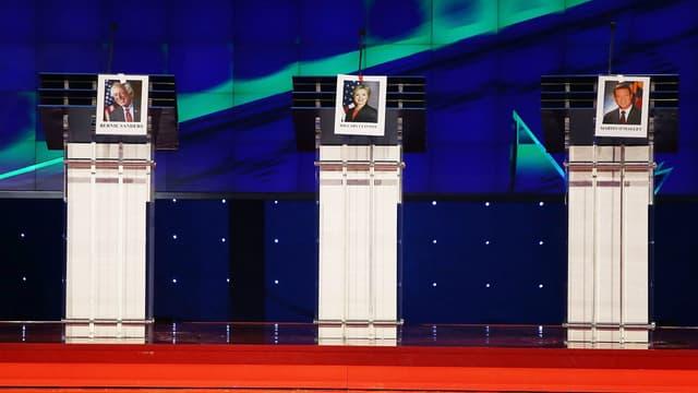 Le plateau de CNN où se déroulera le premier débat entre les candidats à la primaire démocrate, le 13 octobre, à Las Vegas.