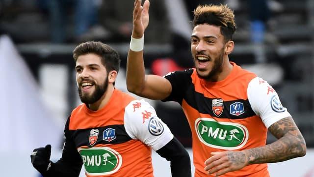 Jimmy Cabot et Denis Bouanga (Lorient)