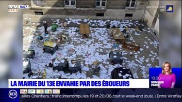 Paris: des éboueurs envahissent la mairie du 13e arrondissement