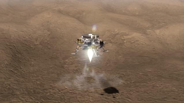 Illustration de la mission martienne de Tianwen-1
