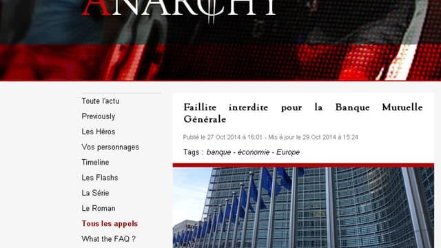Le site d'Anarchy se présente comme un site d'information sérieux, et est tenu par 15 journalistes.