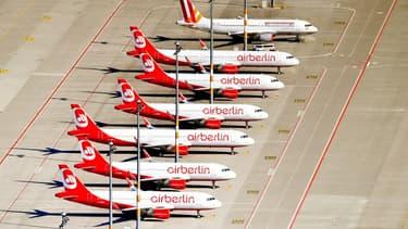 La flotte d'Air Berlin devrait être partagée entre Lufthansa, Easy-Jet et Condor.
