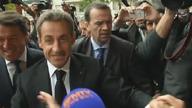La nouvelle carte postale de Nicolas Sarkozy nous vient de Nice.