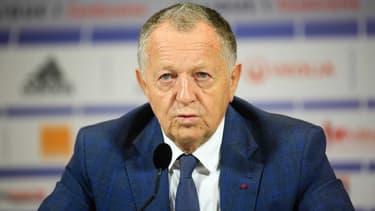 Jean-Michel Aulas, président de l'OL, en conférence de presse