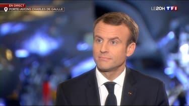 Emmanuel Macron ce mercredi soir sur le porte-avions Charles-de-Gaulle.