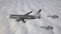 Boeing a remporté l'appel d'offres portant sur la livraison d'avions ravitailleurs à l'armée de l'air américaine, aux dépens d'Airbus, filiale d'EADS. /Photo diffusée le 24 février 2011/REUTERS/Boeing