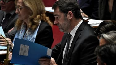 Le ministre de l'Intérieur, Christophe Castaner, pendant une session de questions au gouvernement à l'Assemblée Nationale, le 7 janvier 2020