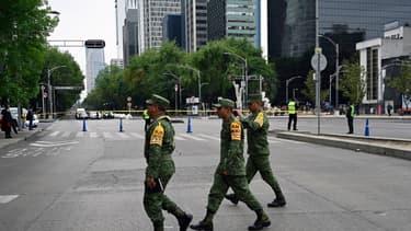 Des soldats de l'armée mexicaine lors d'un exercice à Mexico City, le 20 janvier 2020 (photo d'illustration)