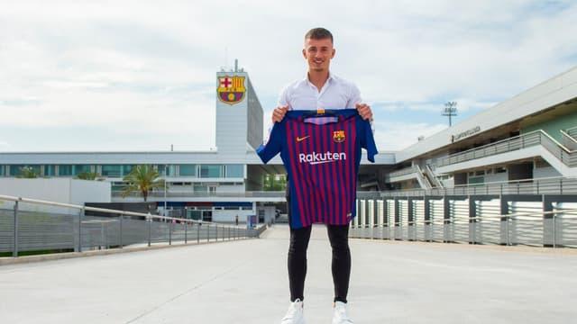 Mike van Beijnen avec le maillot du Barça
