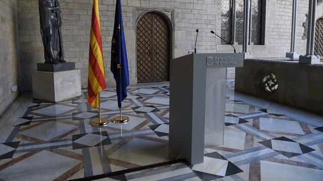 Carles Puigdemont devait prononcer un discours.