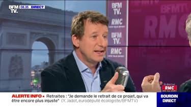 Réforme des retraites: Yannick Jadot demande le retrait du projet de loi du gouvernement