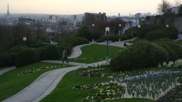 Le parc de Belleville.