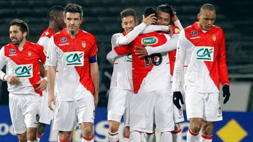 L'AS Monaco lors de sa victoire en Coupe de France contre l'équipe de Chasselay, mercredi 21 janvier.