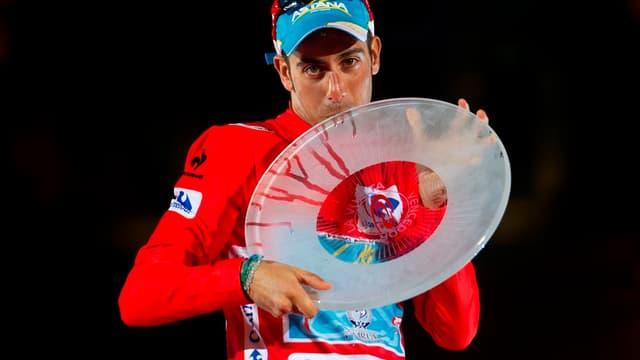 Fabio Aru lors de sa victoire sur la Vuelta 2015