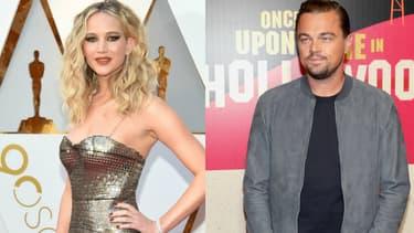 Jennifer Lawrence et Leonardo DiCaprio