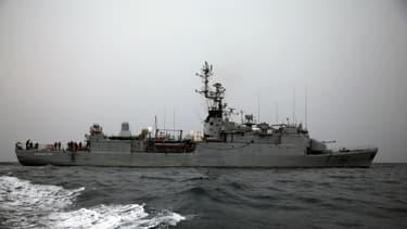 Le Commandant Birot lors d'une opération dans le Golfe de Guinée le 20 février 2014.