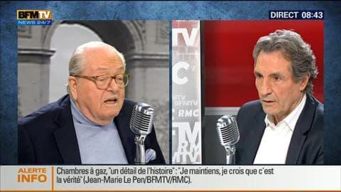 Jean-Marie Le Pen face à Jean-Jacques Bourdin en direct