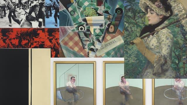Les tableaux d'Edouard Manet, Francis Bacon, Andy Warhol ou Juan Gris font partie des meilleures ventes d'art de 2014.