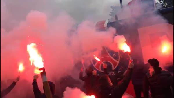 Le passage du car parisien avant PSG-Lens