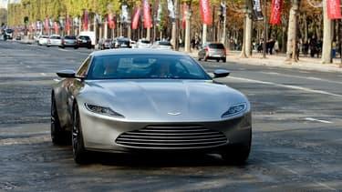 """L'Aston Martin DB10 de James Bond dans le fim """"Spectre""""."""