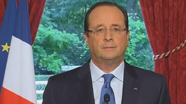 François Hollande s'exprime depuis l'Elysée à Paris le 19 octobre 2013.
