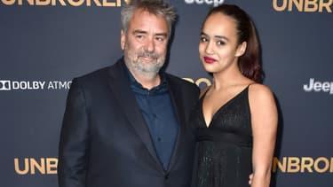 Luc Besson et sa fille à une avant première hollywoodienne en novembre 2014