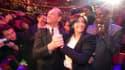 Anne Hidalgo et Bertrand Delanoë au Cirque d'Hiver, jeudi soir.