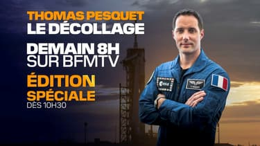 Thomas Pesquet sur BFMTV.