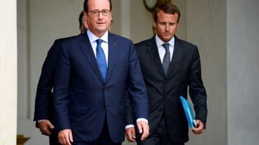 François Hollande et Emmanuel Macron.