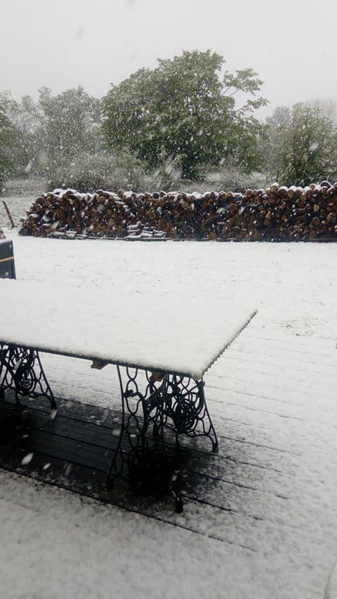 De la neige en Normandie ce lundi 30 avril.