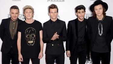 Le groupe One Direction lors des American Music Awards en novembre 2014