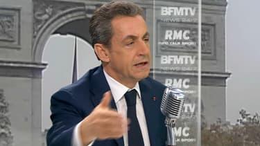 Nicolas Sarkozy jeudi matin sur BFMTV et RMC.
