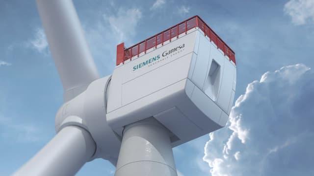 L'éolienne géante de Siemens Gamesa dispose de pales de 108 mètres de long et d'un rotor de 222 mètres de diamètre.