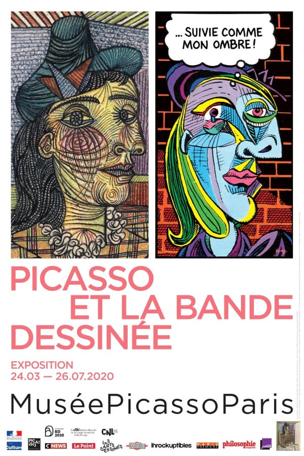 Détaile de l'affiche de l'exposition Picasso et la bande dessinée