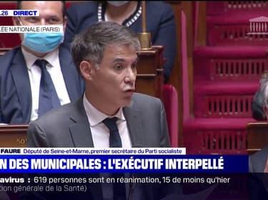 """Olivier Faure: """"Jamais un président de la République n'avait subi un tel revers lors d'élections municipales"""""""
