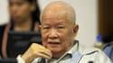 """Khieu Samphan, ancien chef de l'Etat du """"Kampuchéa démocratique""""."""