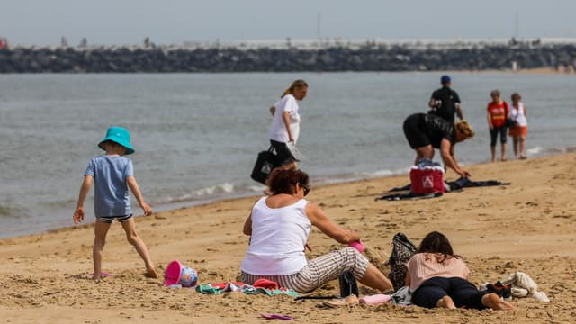 La plage d'Ostend en Belgique (illustration)