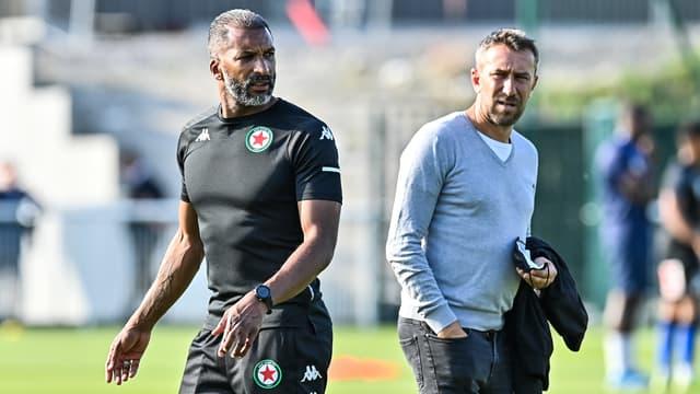 Habib Beye et Vincent Bordot