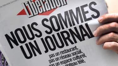 """La """"une"""" de Libération en opposition avec le plan stratégique de la direction, en février dernier"""