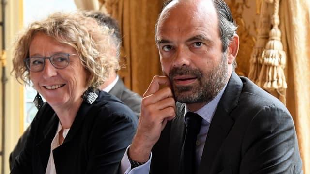 La ministre du Travail Muriel Pénicaud et le Premier ministre Édouard Philippe.