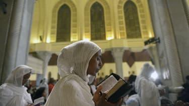 La messe de Pâques dans une église copte au Caire (photo d'illustration)