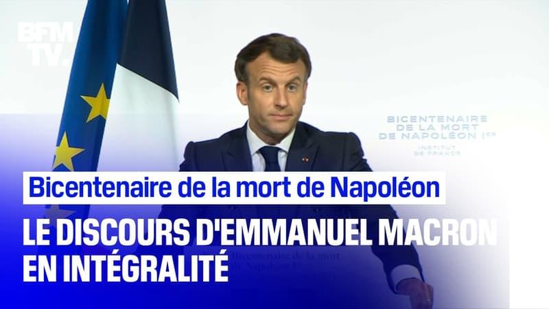 Le discours intégral d'Emmanuel Macron pour la commémoration du bicentenaire de la mort de Napoléon