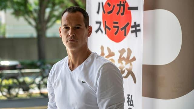 Le Français Vincent Fichot, dont les deux enfants ont été enlevés par leur mère japonaise, le 10 juillet 2021 à Tokyo (photo d'ilustration)