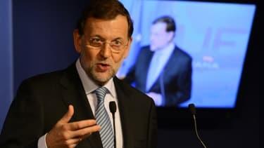 Mariano Rajoy, durant le sommet européen qui s'est tenu à Bruxelles jeudi et vendredi.