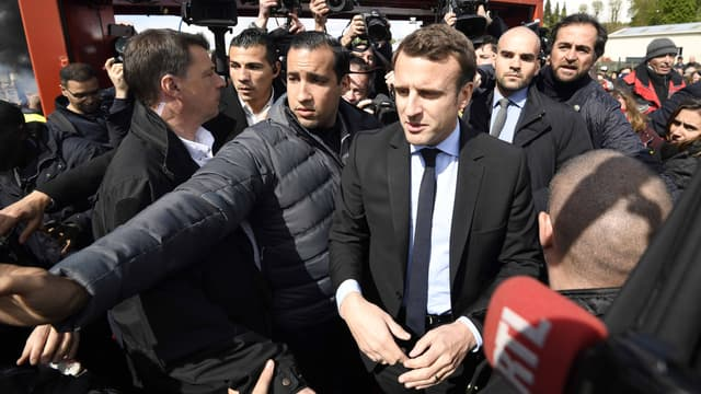Emmanuel Macron à Amiens, mercredi 26 avril.