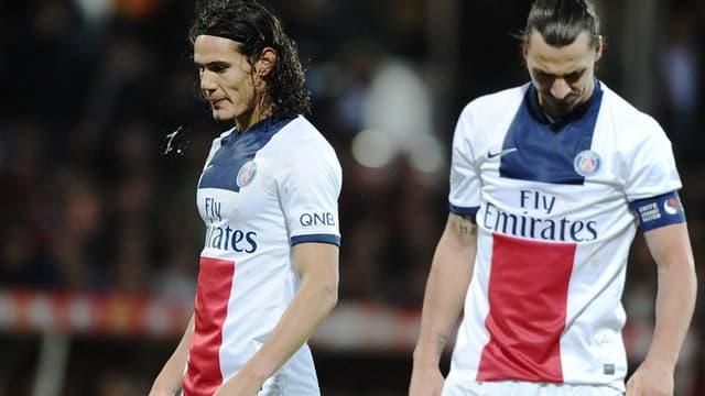 Edinson Cavani et Zlatan Ibrahimovic