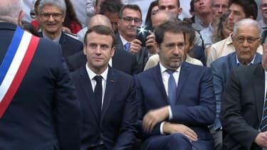 Emmanuel Macron et Christophe Castaner ce jeudi.