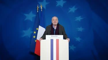 François Berléand a Bruxelles en février dernier, s'exprimant à la tribune du Conseil européen.